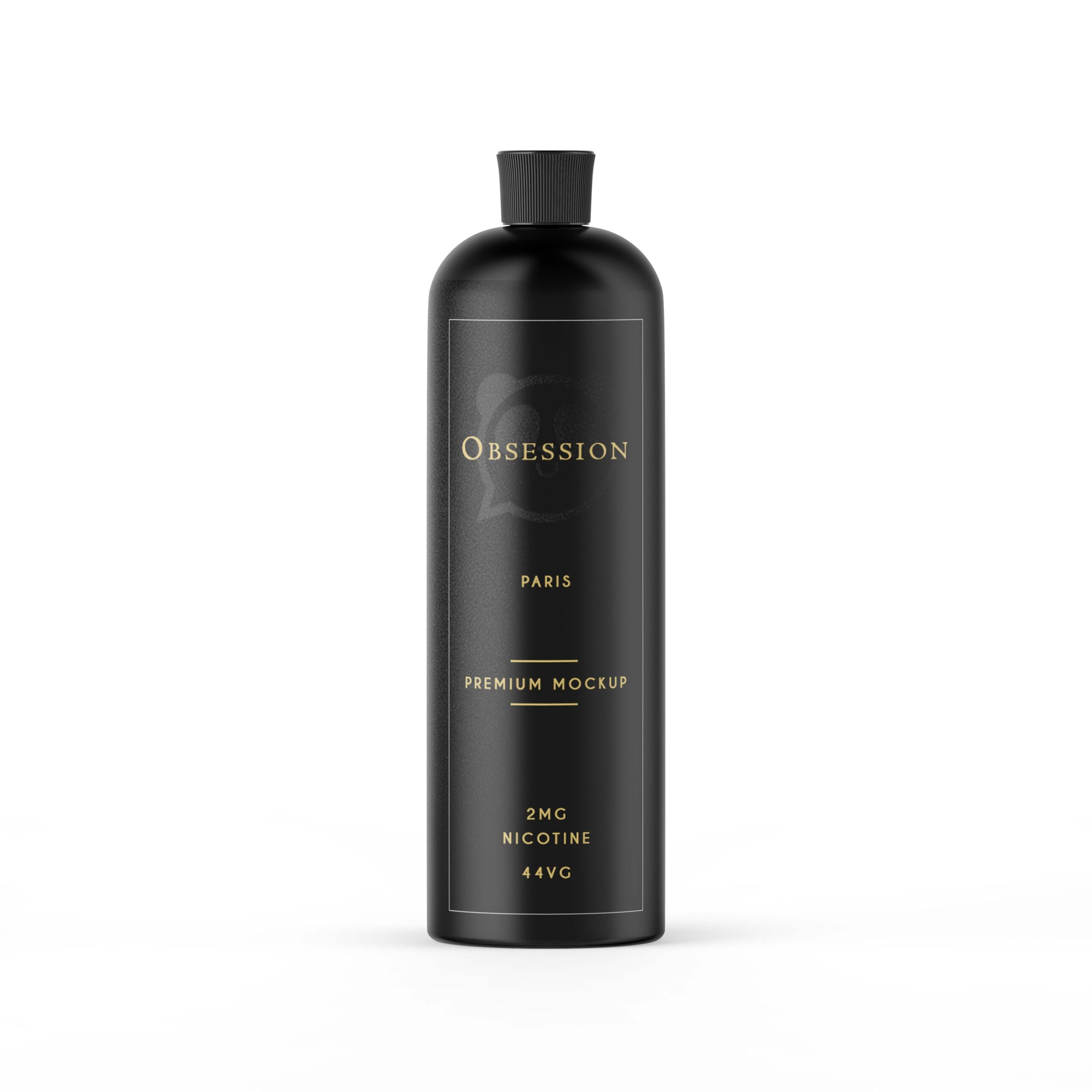 Matte Shampoo Bottle Label Mockup