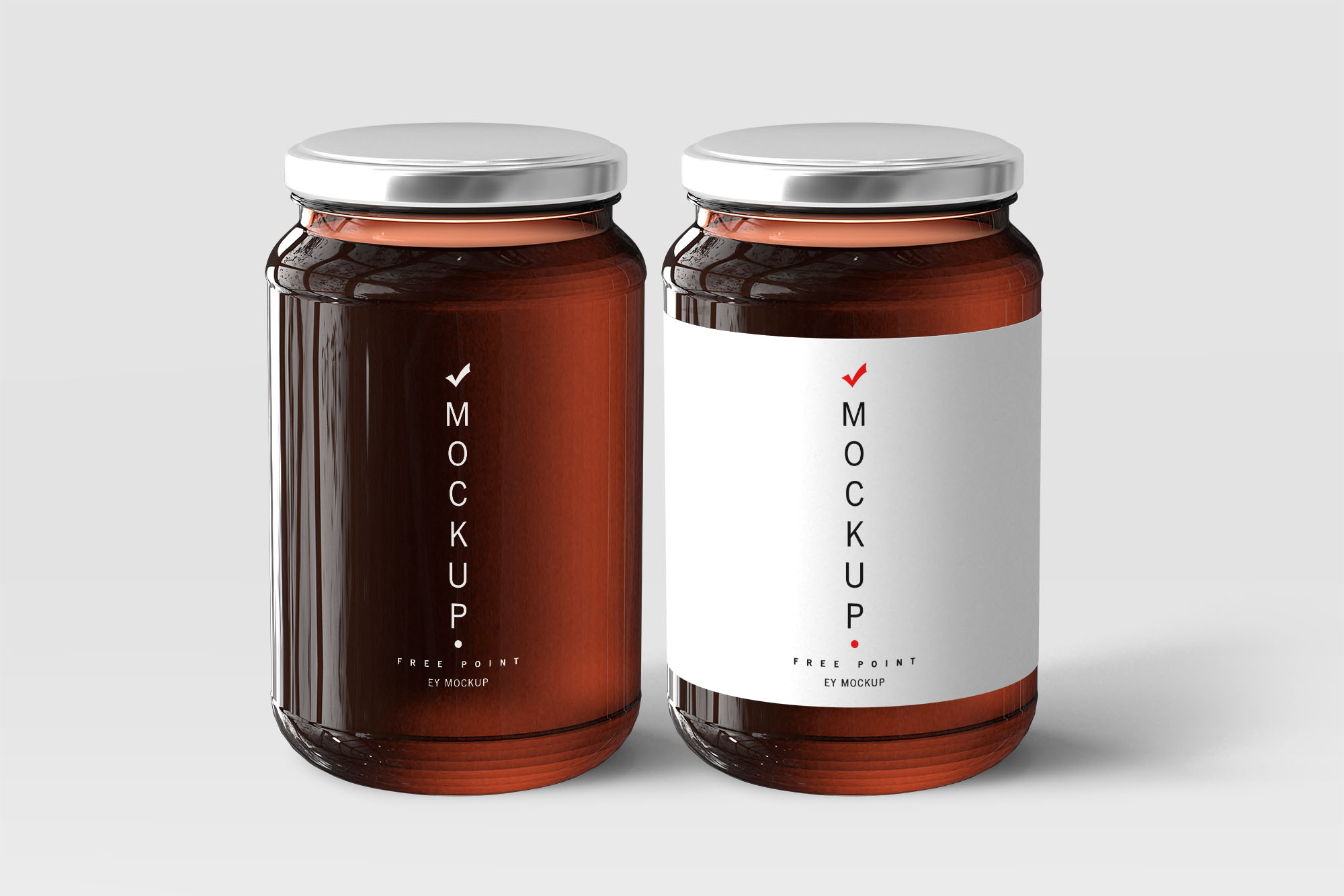 Honey Jars PSD Label Mockup