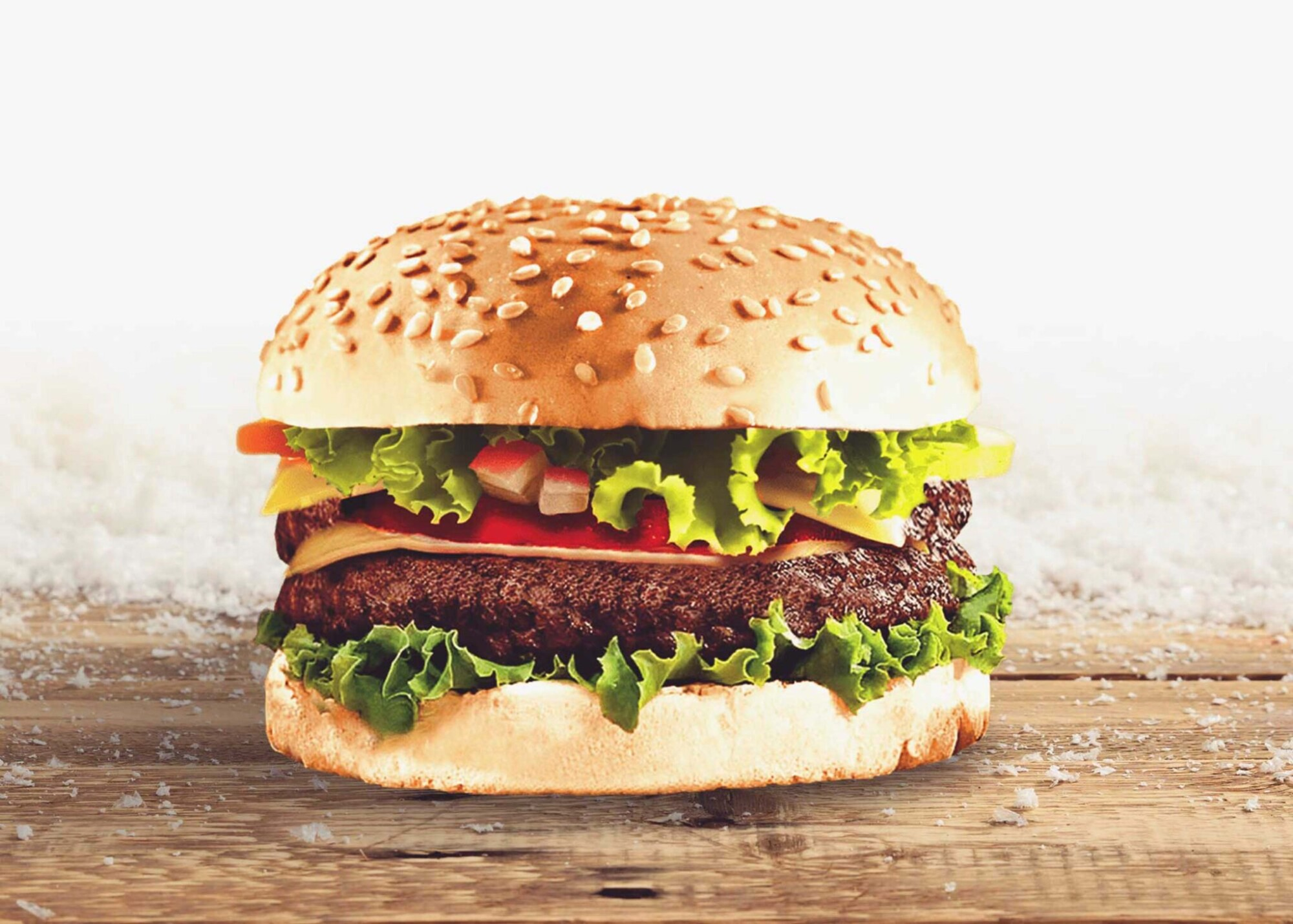 Free Download Hamburger PSD Mockup