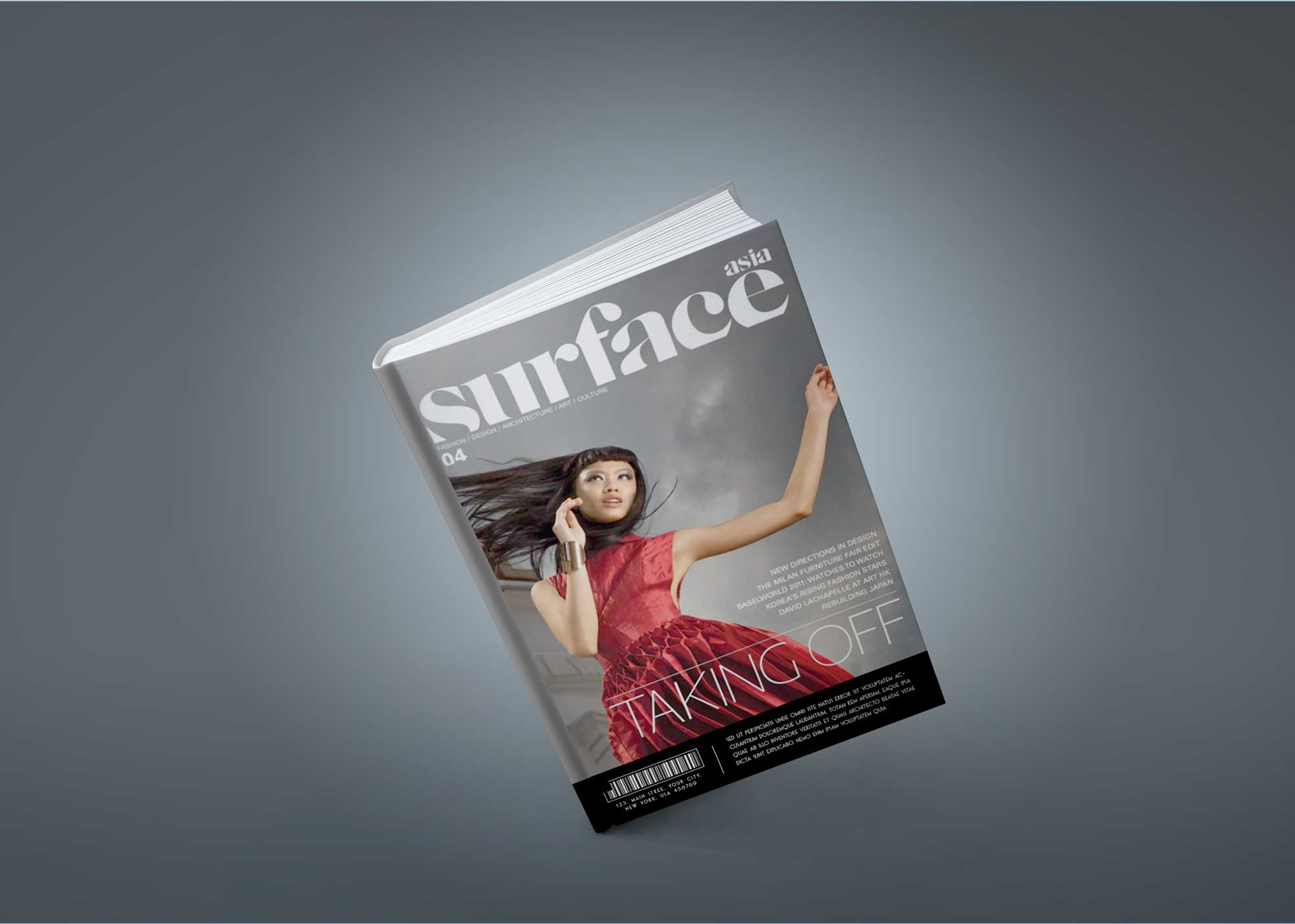 Free Fashion Magazine Book Cover PSD Mockup