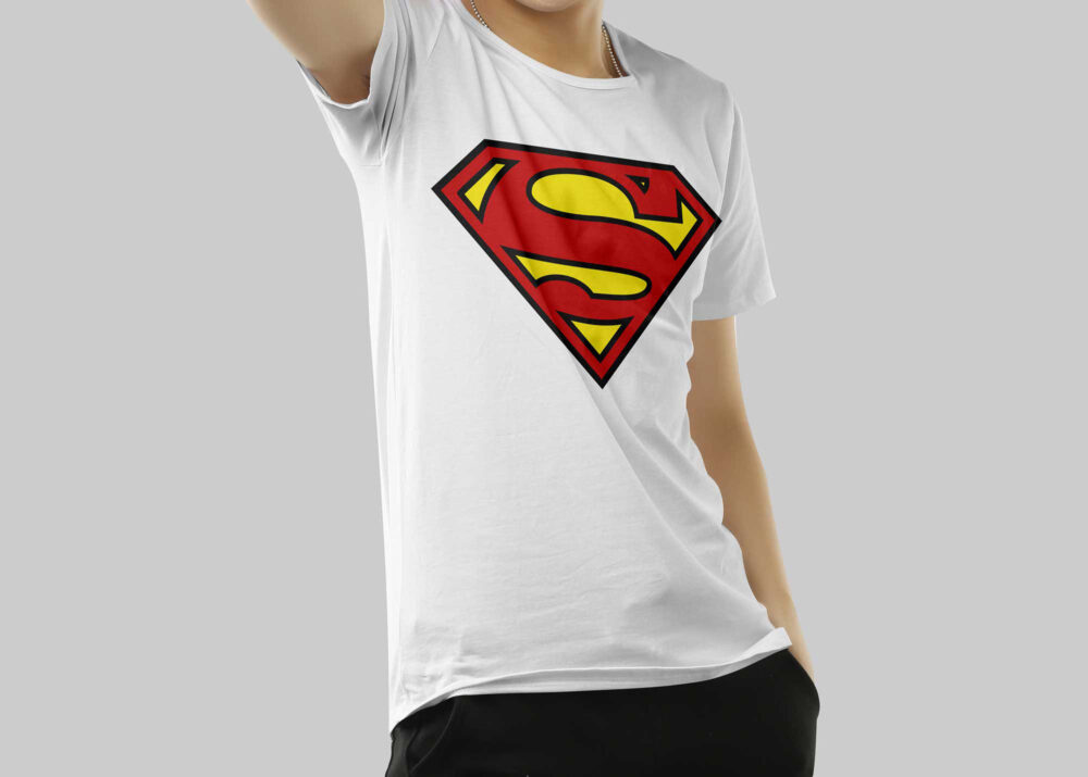 Free Superman Artwork T-shirt Mockup