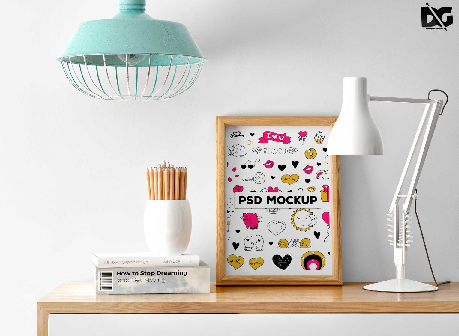 Free PSD Study Table Poster Mockup Behance