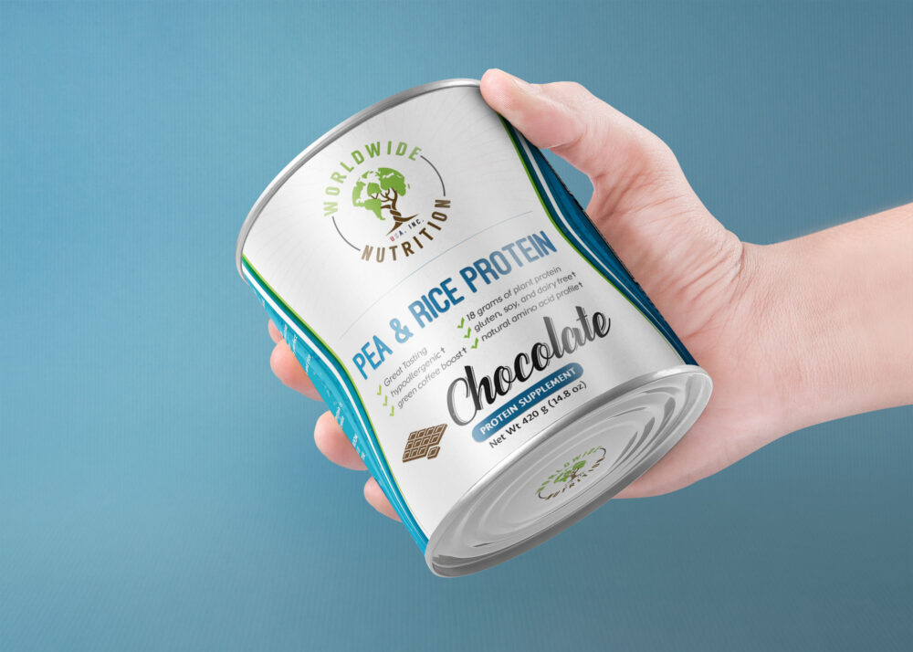 Melt Chocolate Can Label Mockup