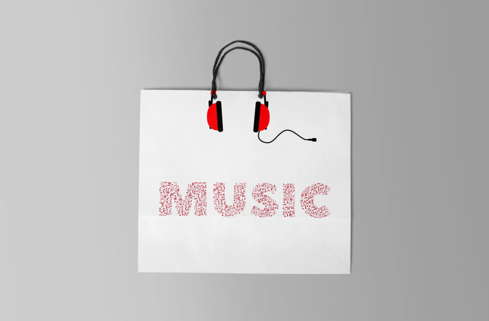 Music Shopping Bag Mockup