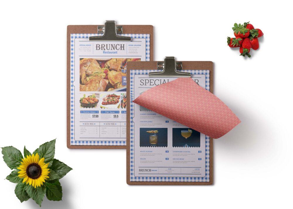 New Vintage Look 2- Side A4 Menu Card Template