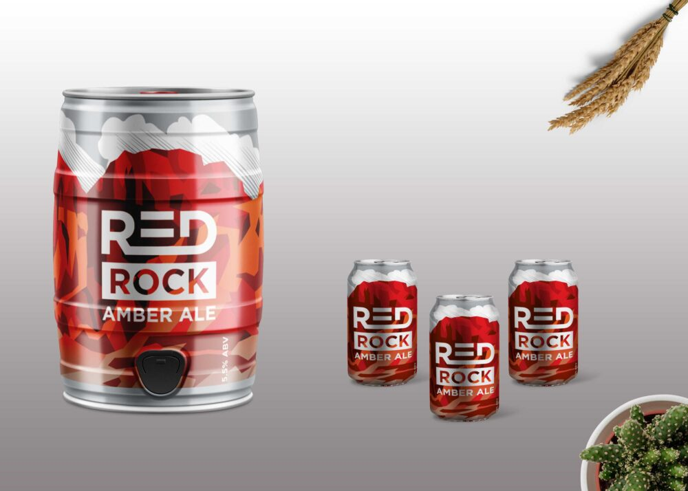 Beer Tin Can Label Mockup