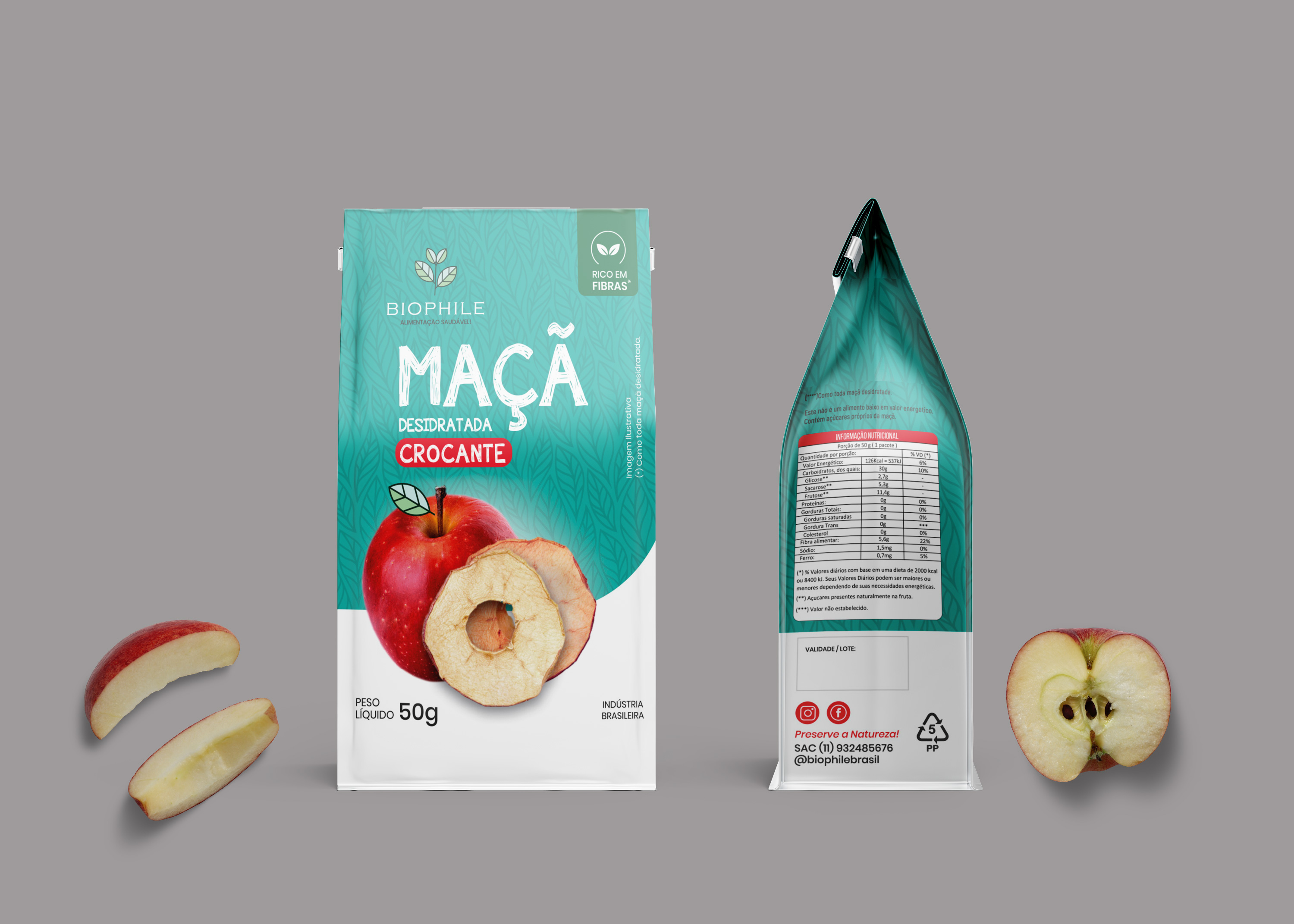 Food Pouch Label Mockup