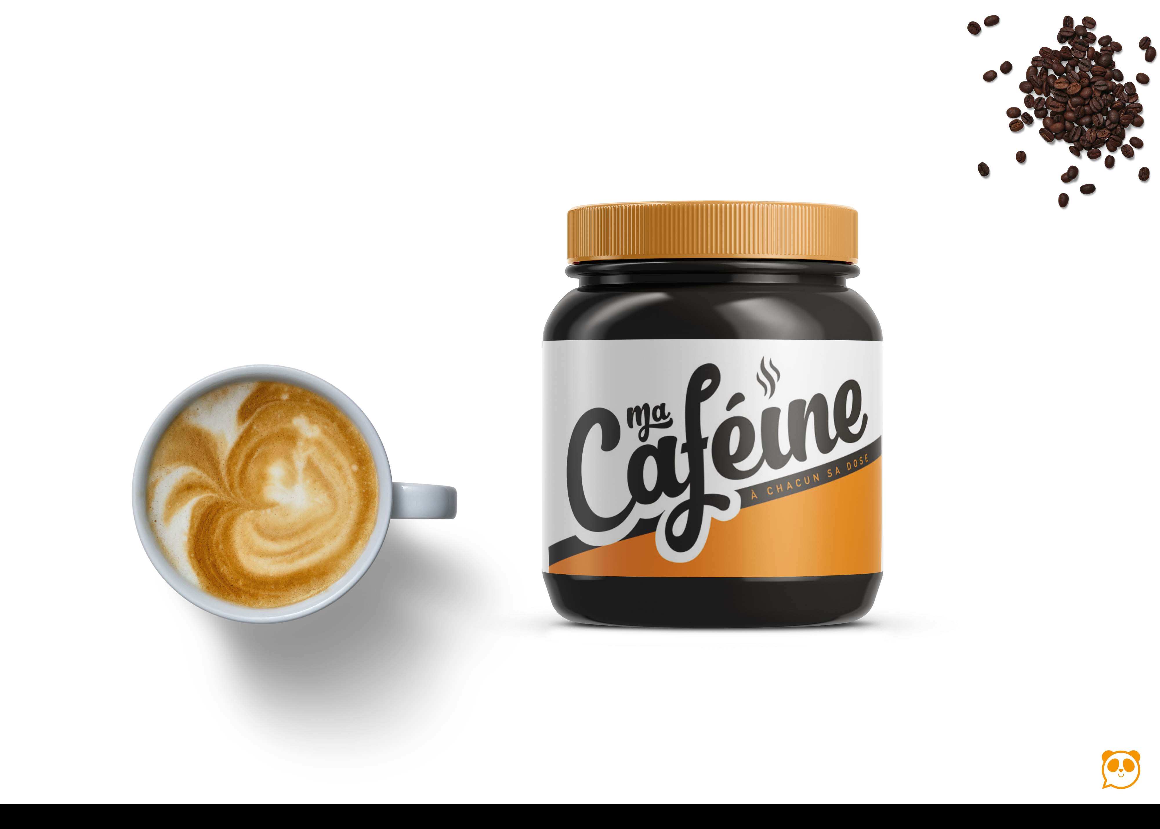 Black Coffee Small Kitchen Bottle Label Mockup