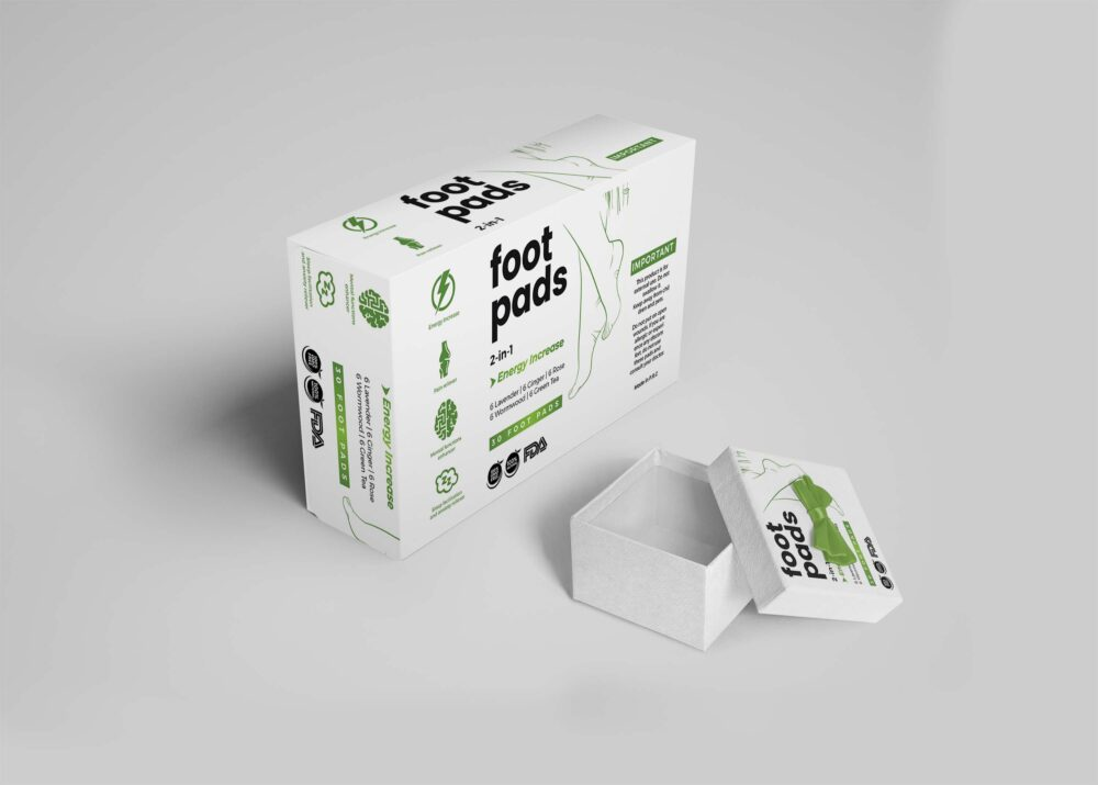 Foot Care Packaging Mockup