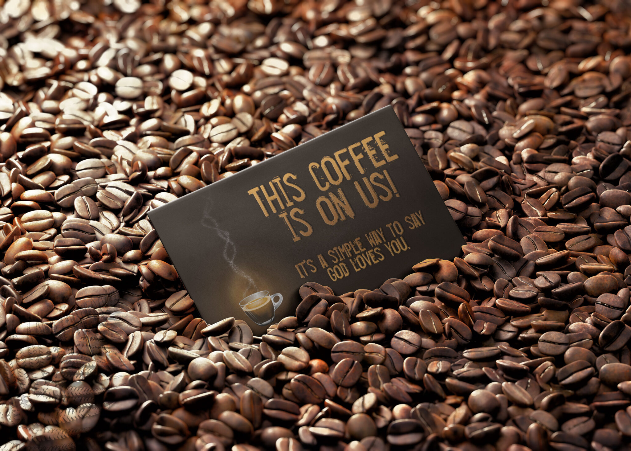 Free Coffee Business Card Mock Up