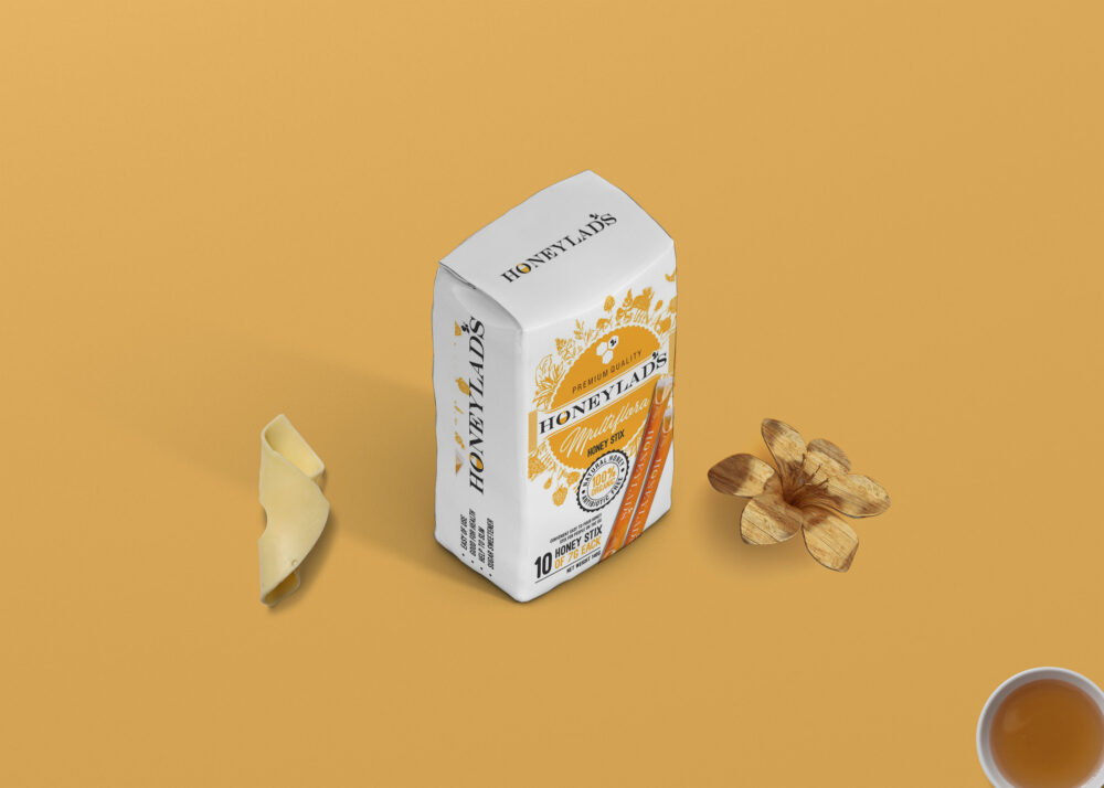 Honey Packaging Pouch Mock Up