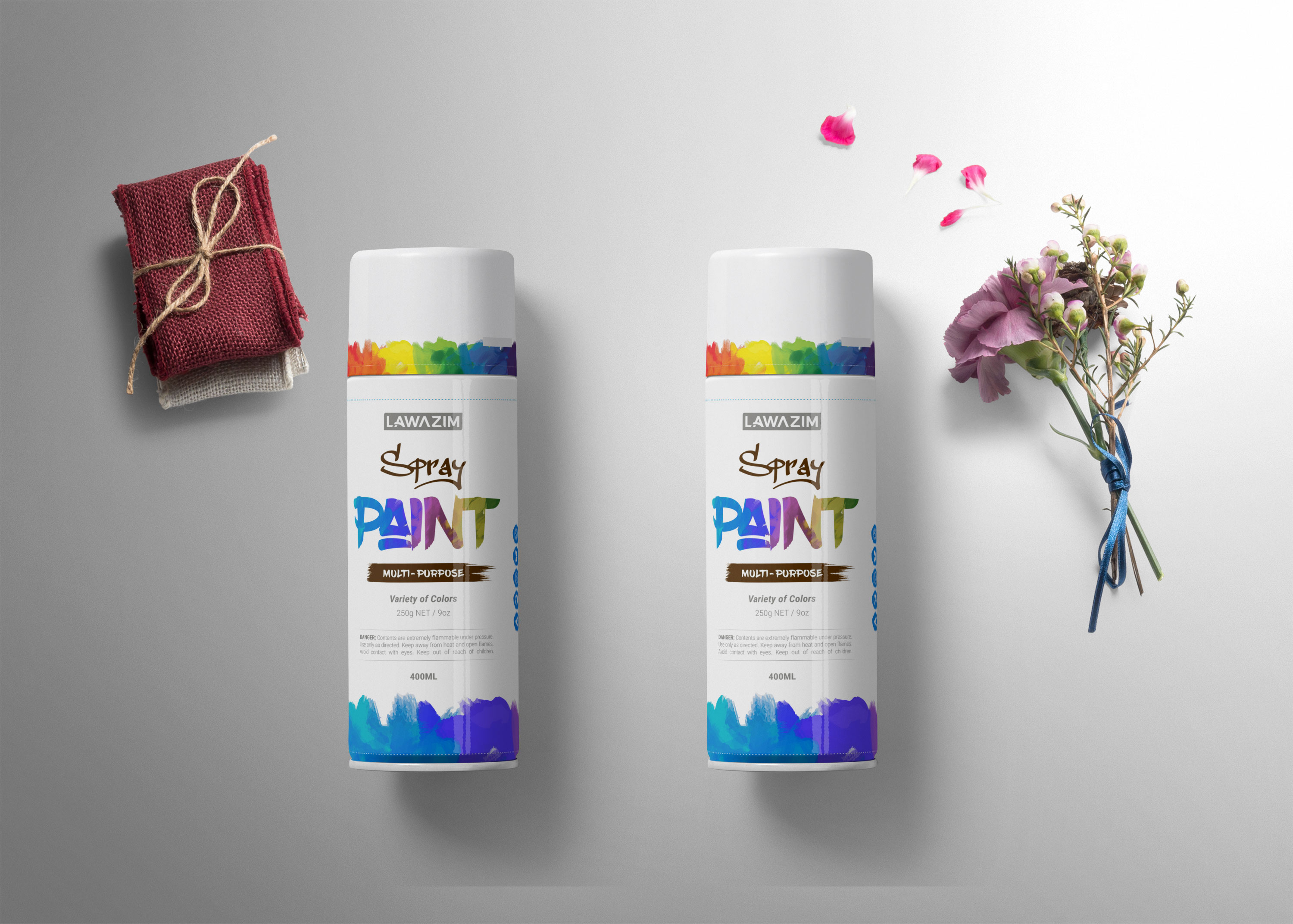 Spray Can Bottle Mockup