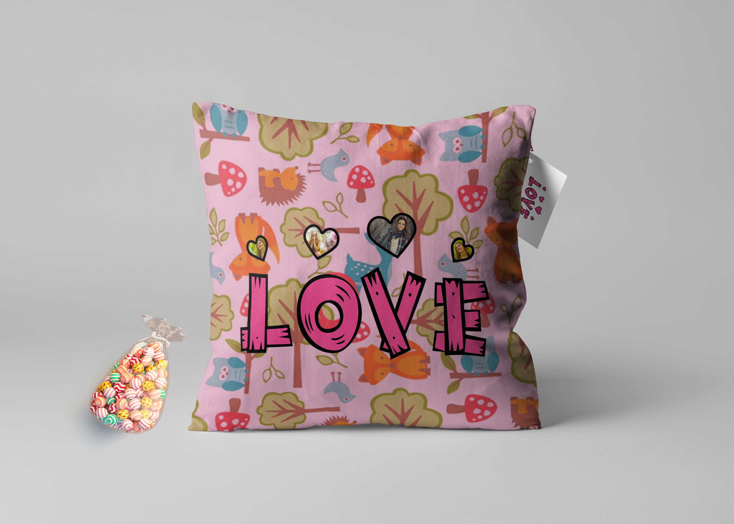 Single Throw Pillow Mockup