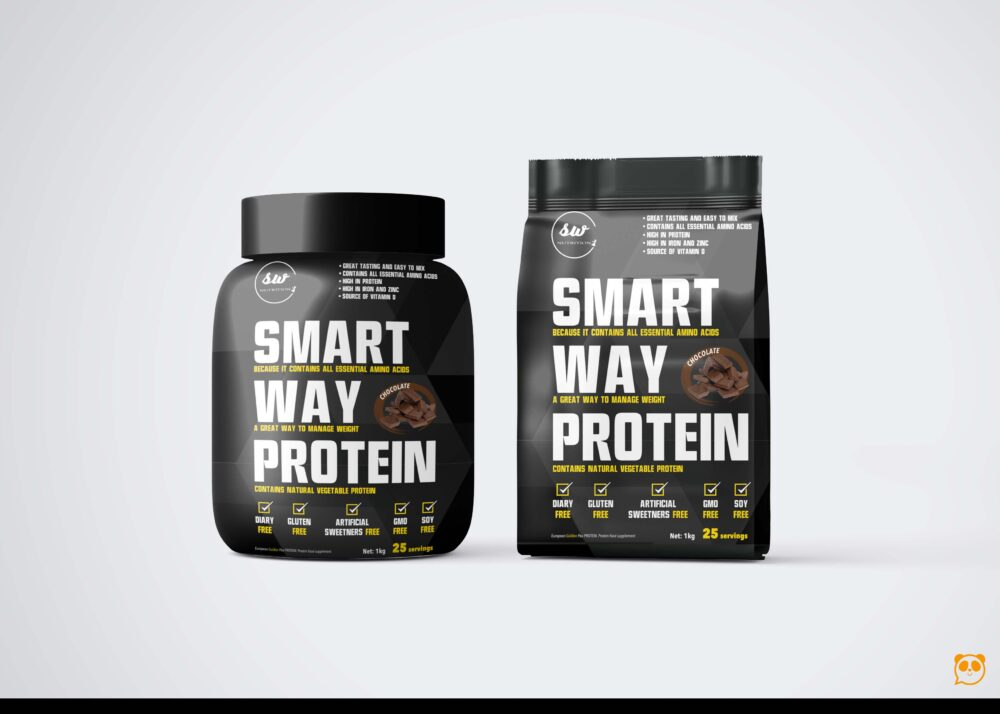 Smart Suplement Protein Packaging Mockup