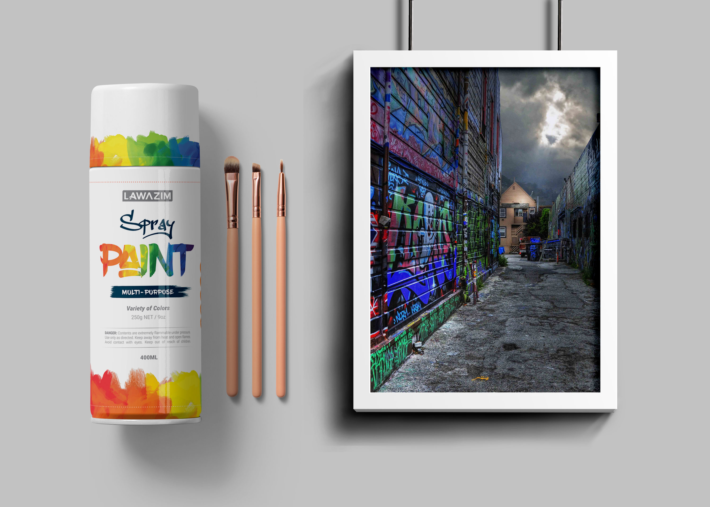 Spray Bottle Poster Mockup