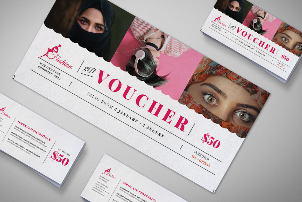 Garment Gift Voucher Design Template
