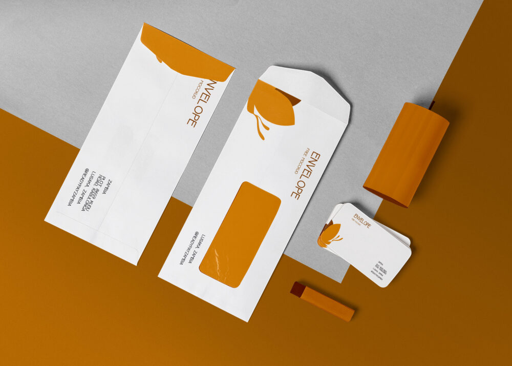 Beautiful Envelope PSD Mockup