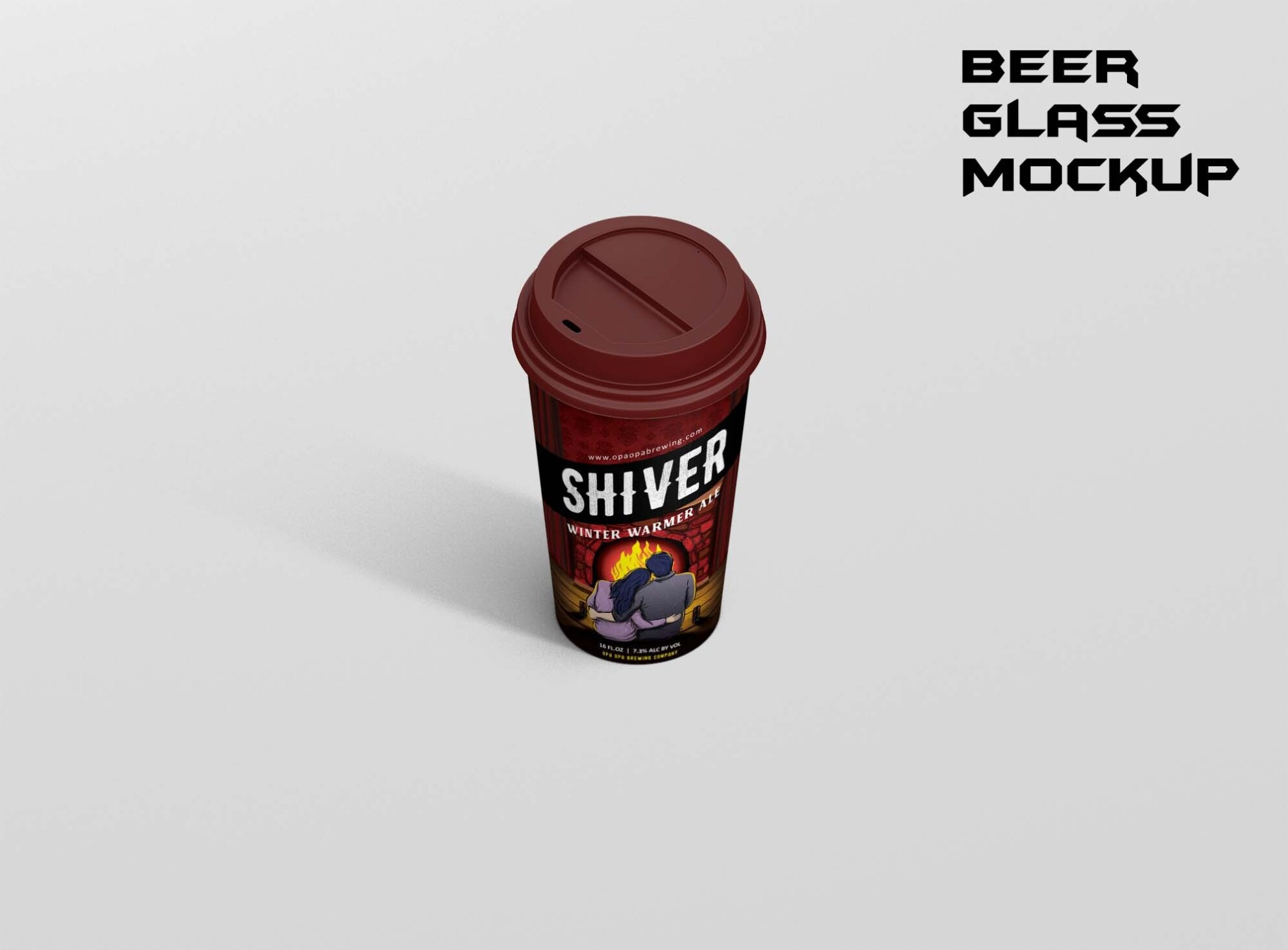 Beer Glass Mockup