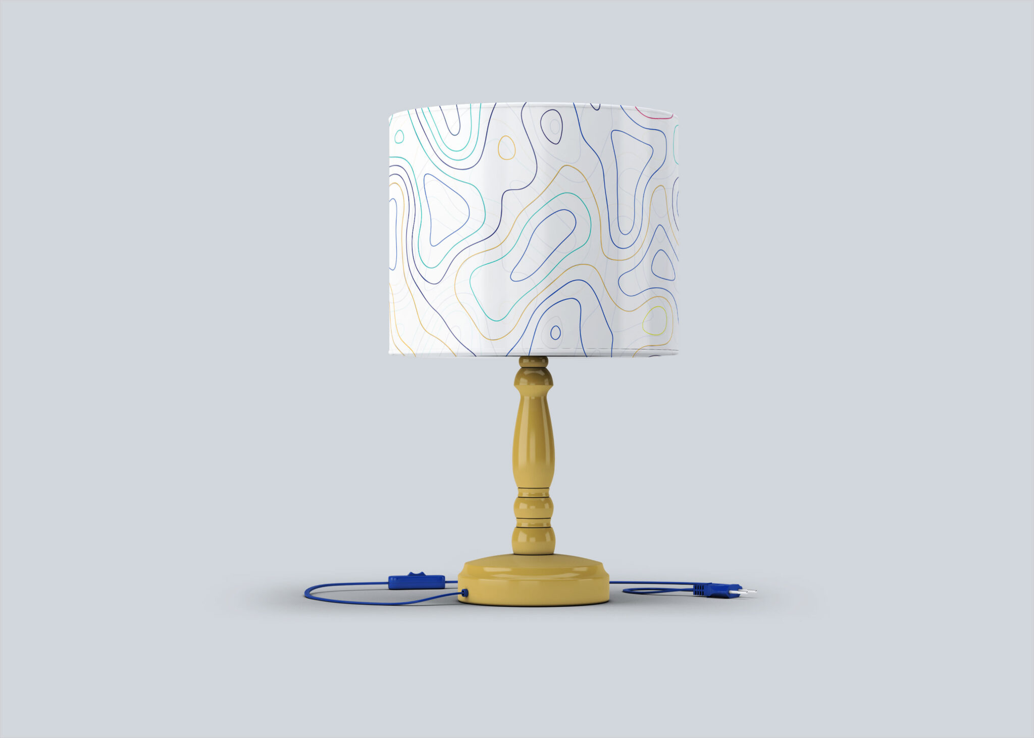 Free Night Table Lamp Mock-up
