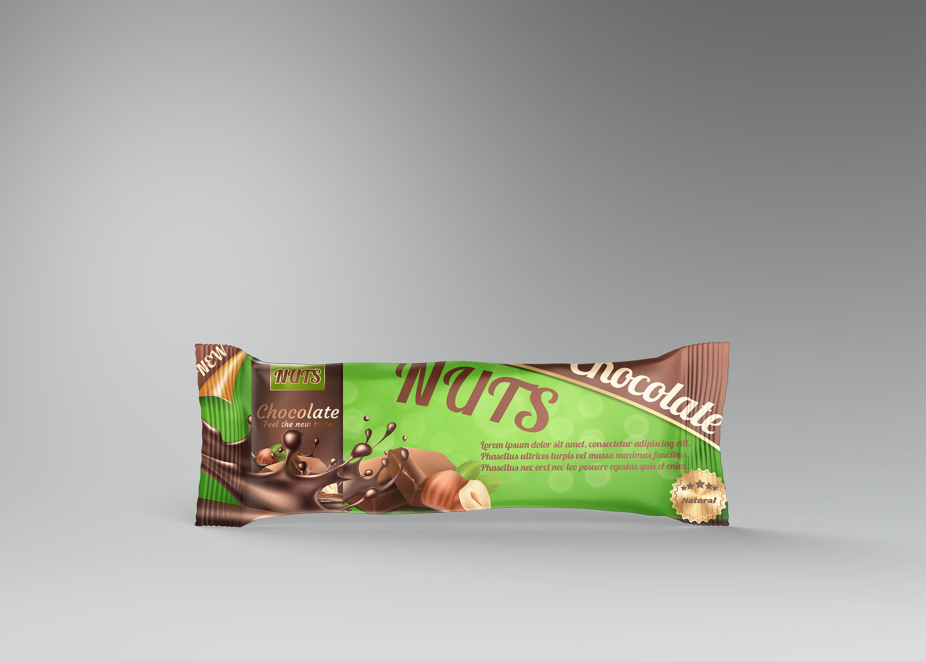 Protein Bar Chocolate Mockup