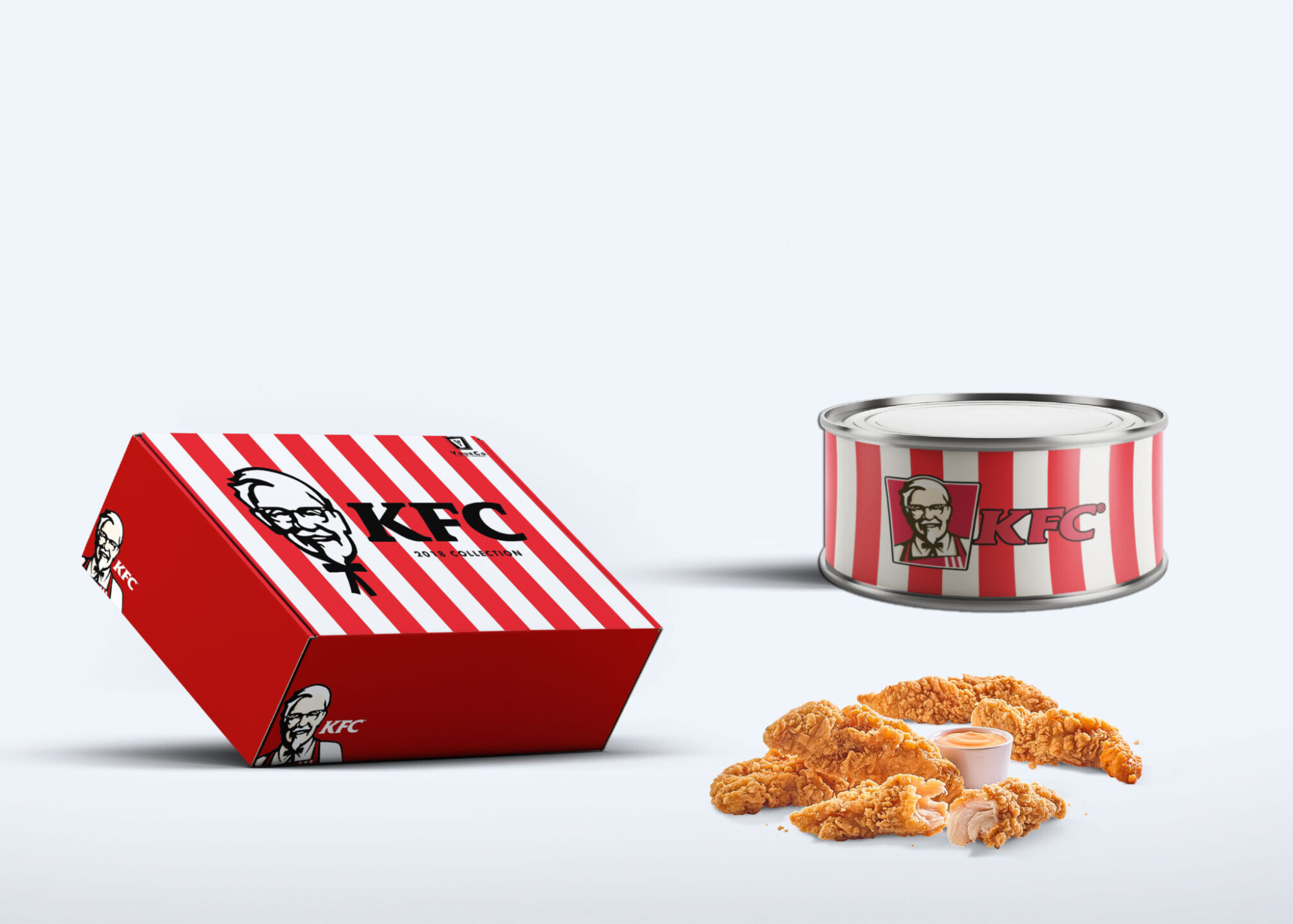 Food Packaging Tin Can Mockup