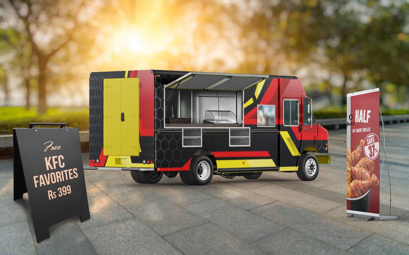Food Truck Wrap Mockup