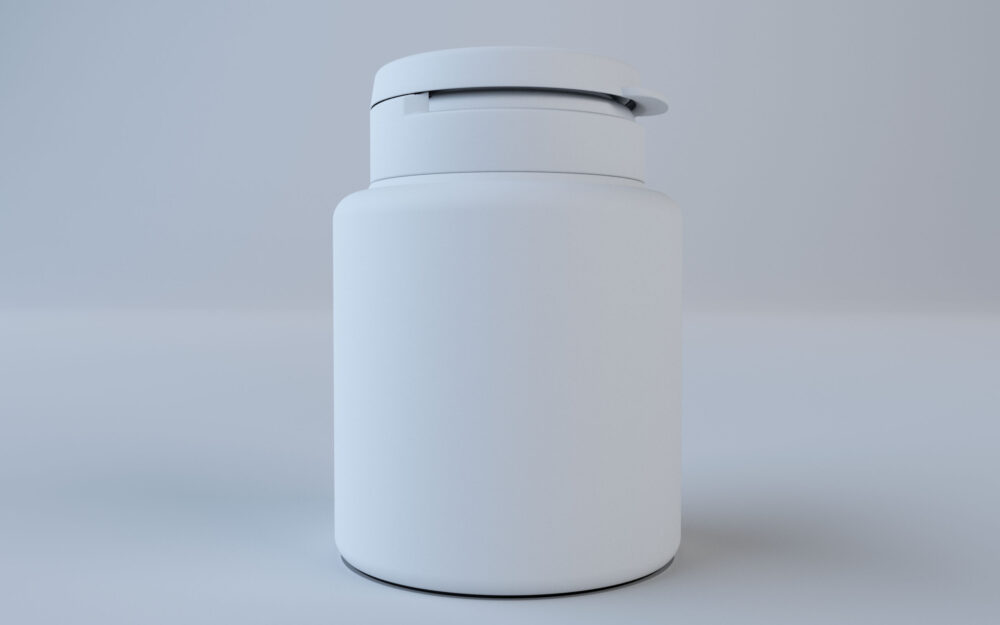 Multi Vitamin Bottle Model