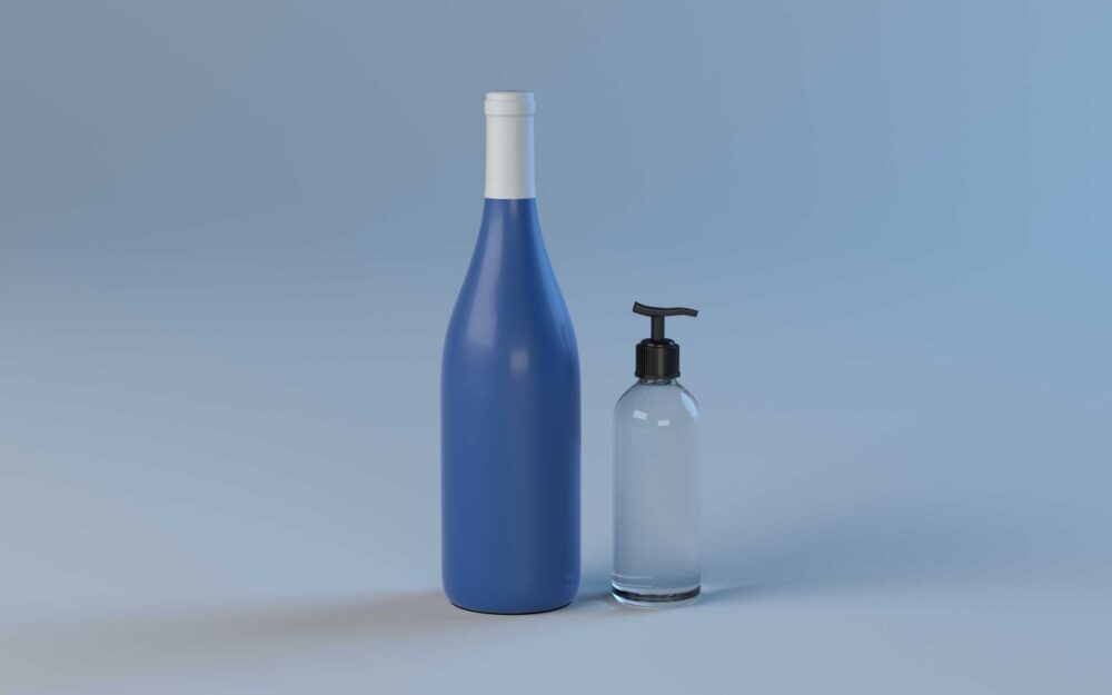 With Hand Wash bottle