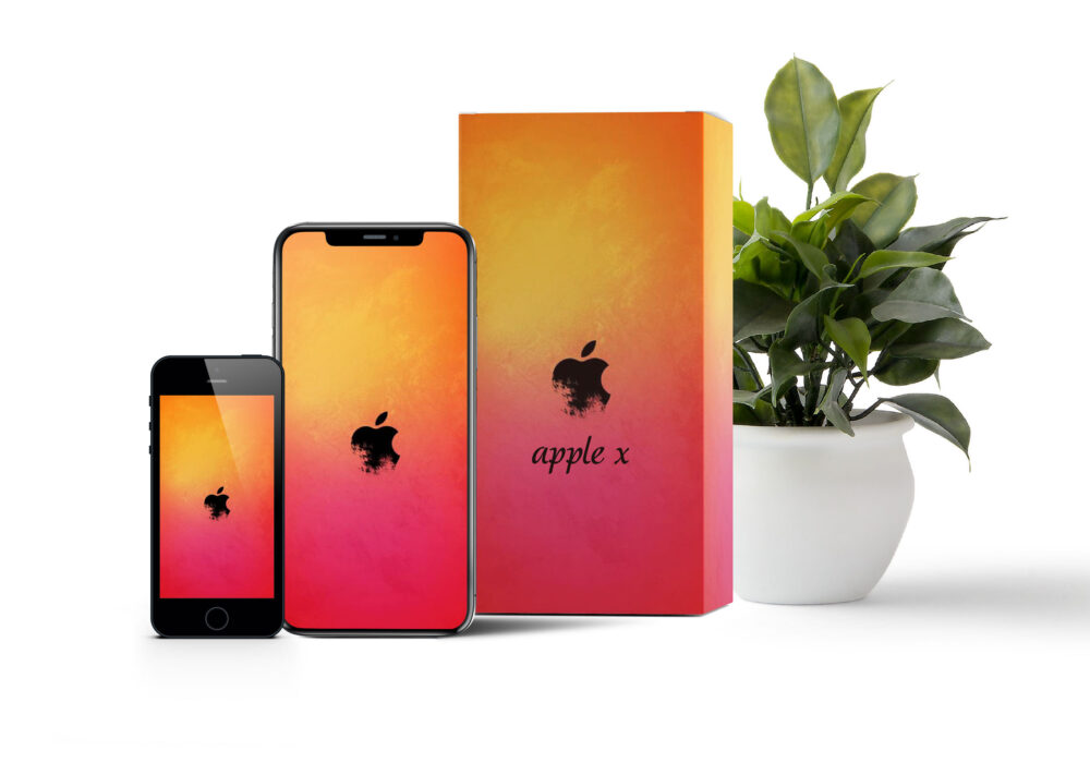 iPhone Box Packaging Mockup