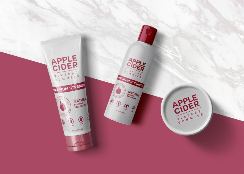 Red Apple Shower Gel Product Mockup