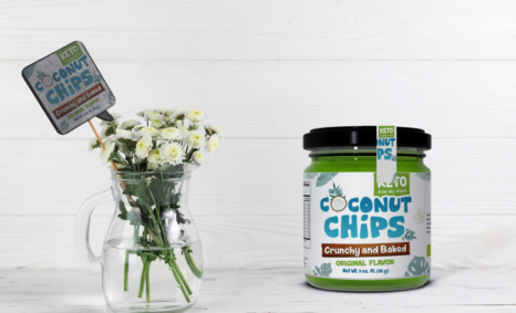 Coconut Chips Glass Jar Mockup