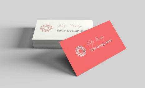 White Business Card Mock-Up