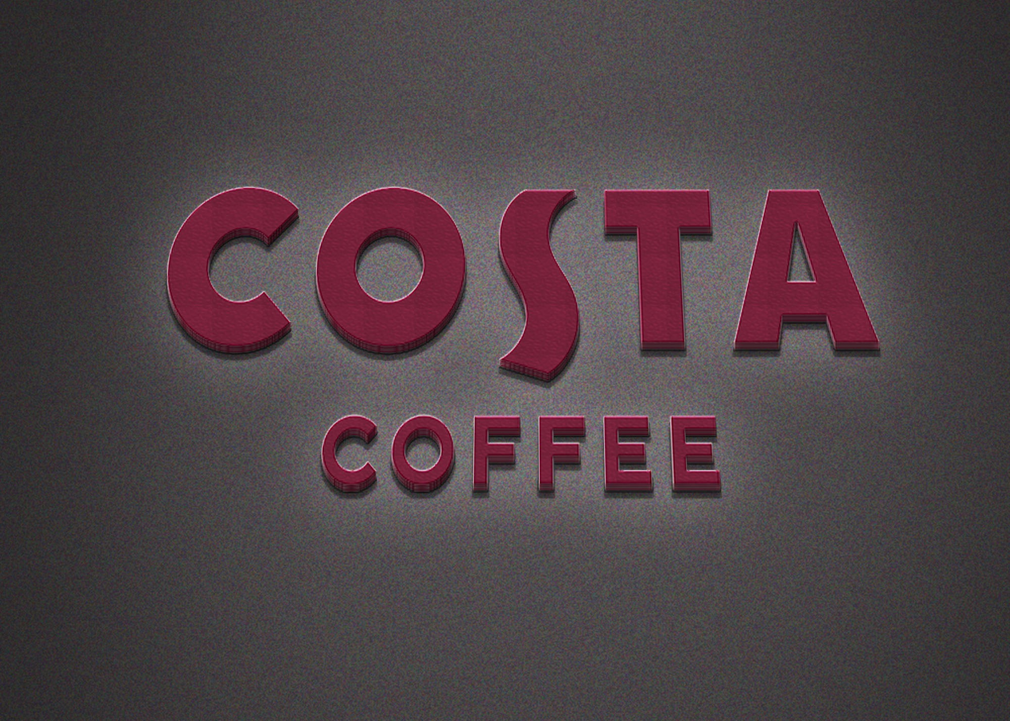 Costa Coffee Logo Mockup 2019