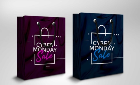 Cyber Monday Sale Bag Mockup