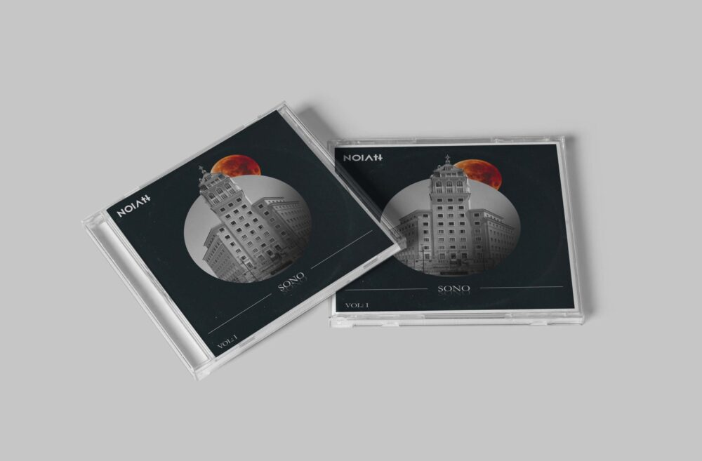 Sony CD Cover Mockup