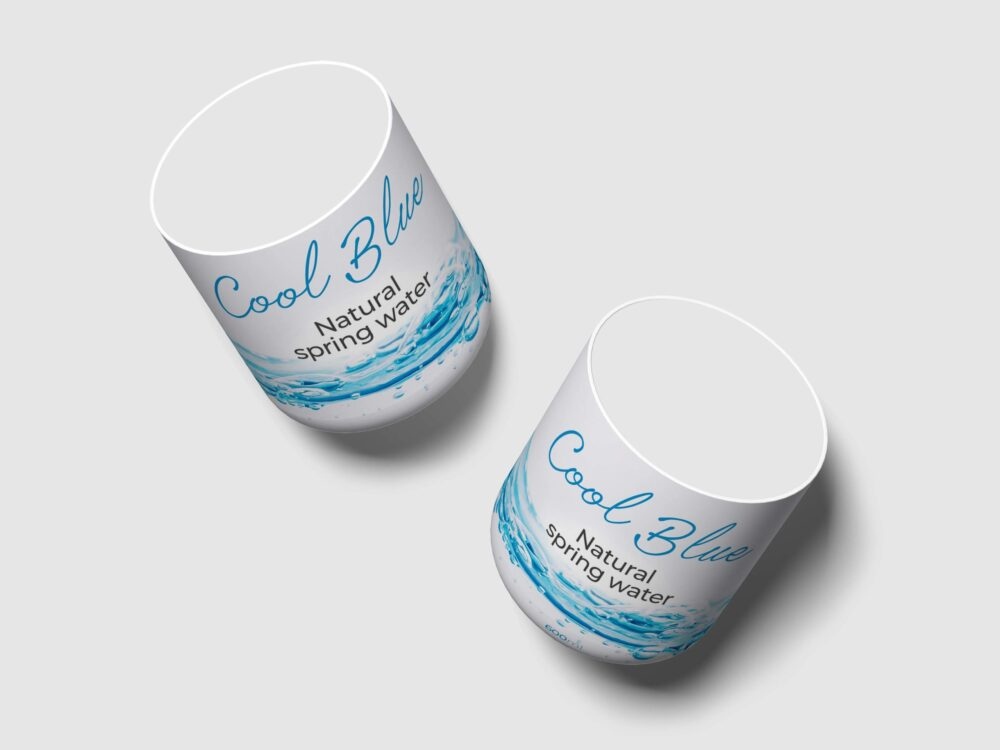 Water Glass Label Mockup
