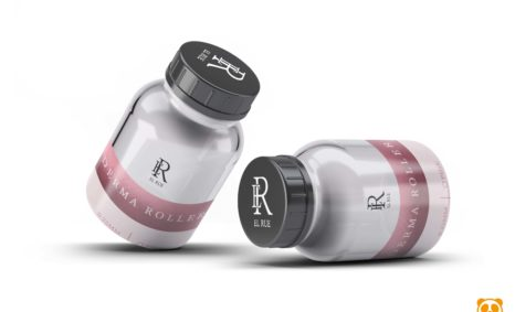 Pills Glass Bottle Mock-Up