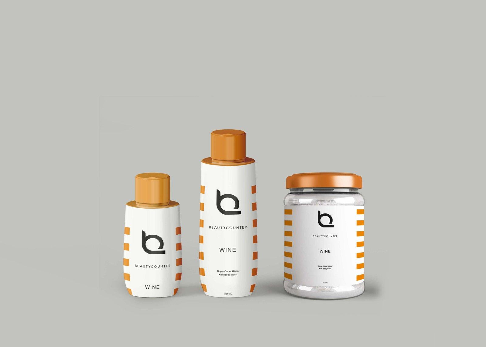 Pure Bottles Label Mockup