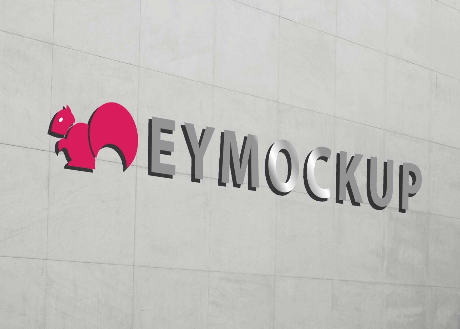 Adobe Photoshop 3D Logo Mockup