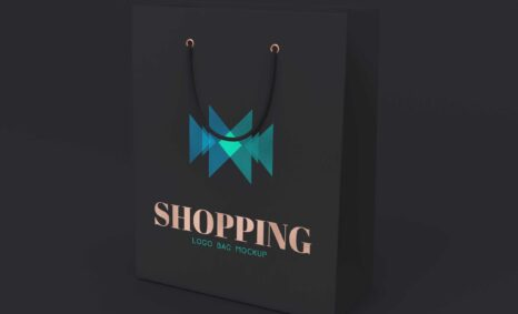 Dark Shopping Bag Logo Mockup