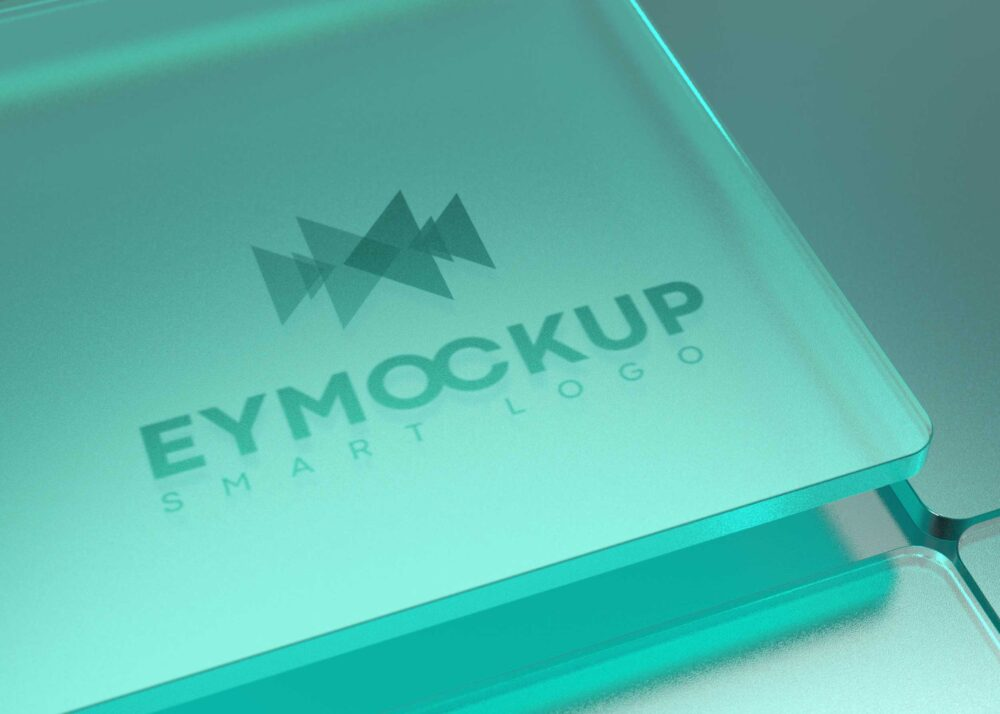 Green Glass Logo Mockup