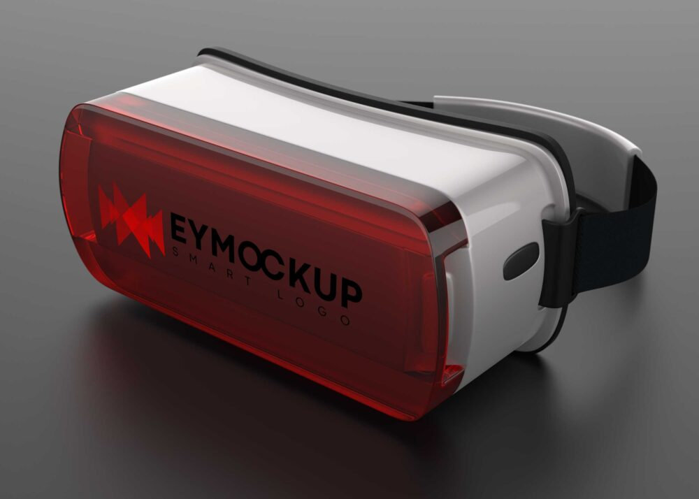 Virtual Reality Headset Logo Mockup