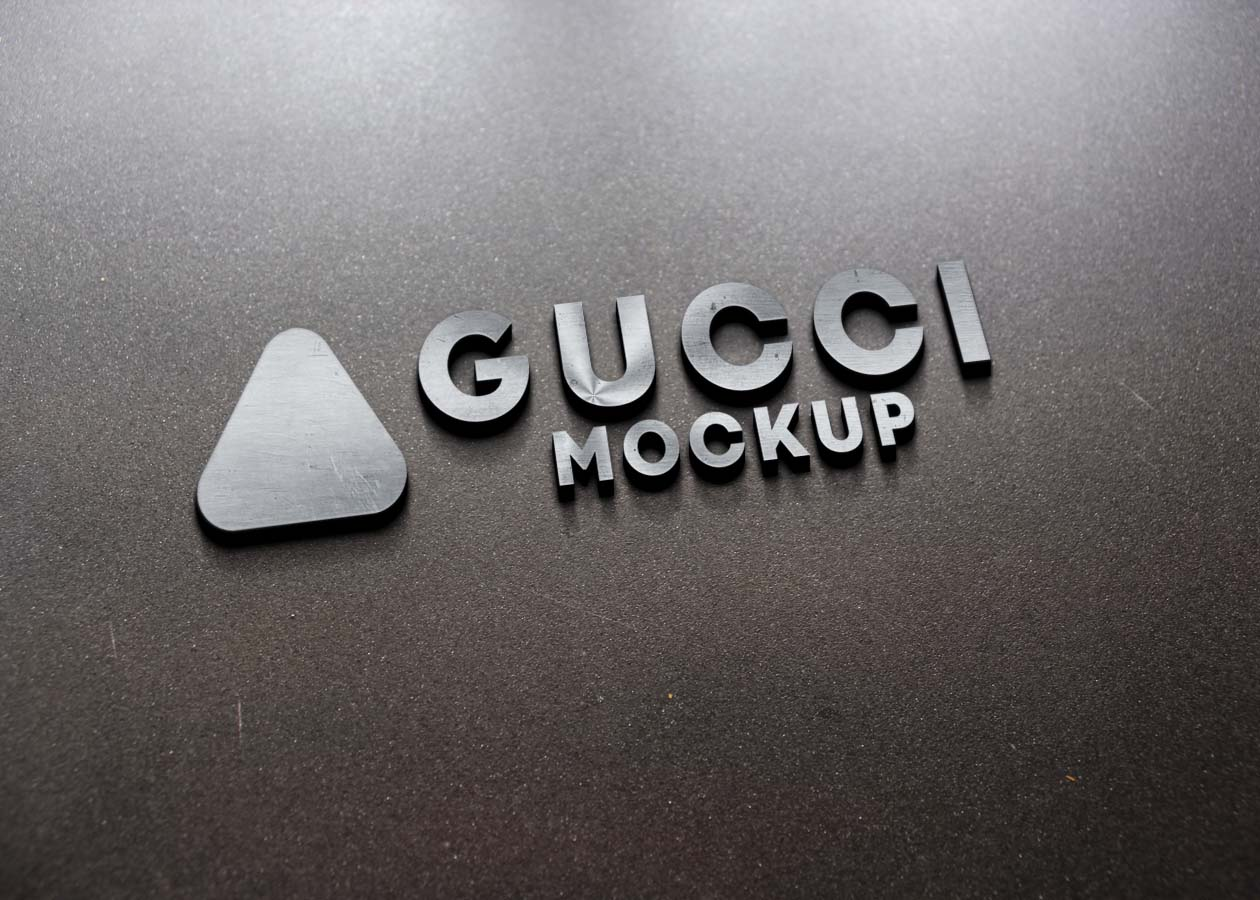 Metallic Best 3D Logo Mockup