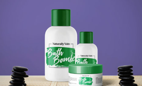 natural Vain Bath Bombs Bottle Mockup