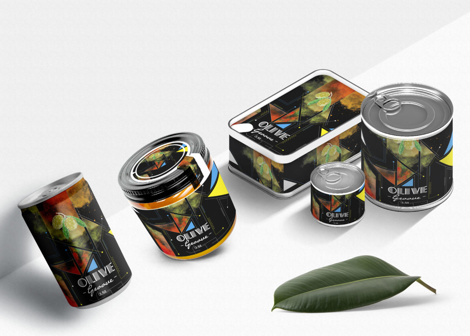 Olive Groove Tin Can Combo Bottle Mockup