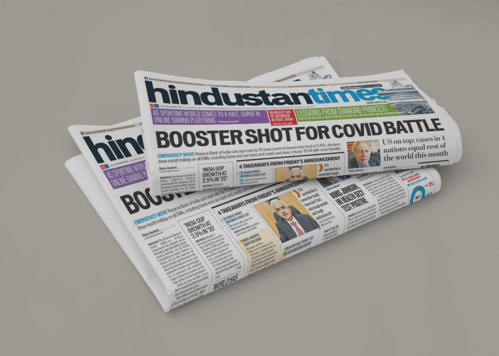 Inovative newspaper mockup collection