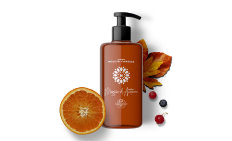 Magic Autumn Orange Pump Bottle mockup