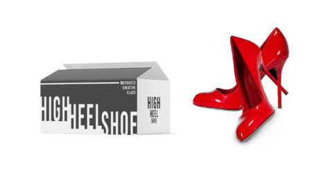Stylish Women High Heels packaging Mockup