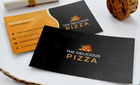 Professionally Designed Pizza Business Card