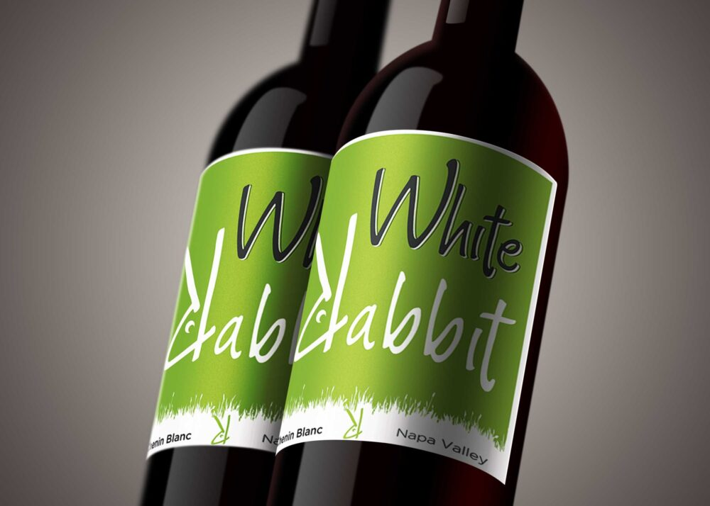 Green Wine Label Mockup